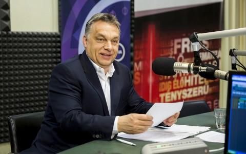 Orbán Viktor egy korábbi rádióinterjú során. Fotó: Mohai Balázs, MTI