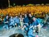 Záróest a X. Ördögkatlan Fesztiválon a szervezőkkel és a Kiscsillag zenekarral. Fotó: Kacsúr Tamás