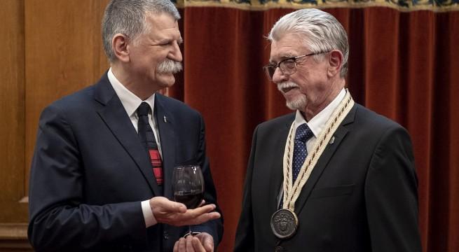 Kövér László az Országgyűlés elnöke és Tiffán Ede. fotó: Szigetváry Zsolt, MTI