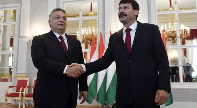 Áder János köztársasági elnök és Orbán Viktor miniszterelnök. Fotó: Illyés Tibor, MTI
