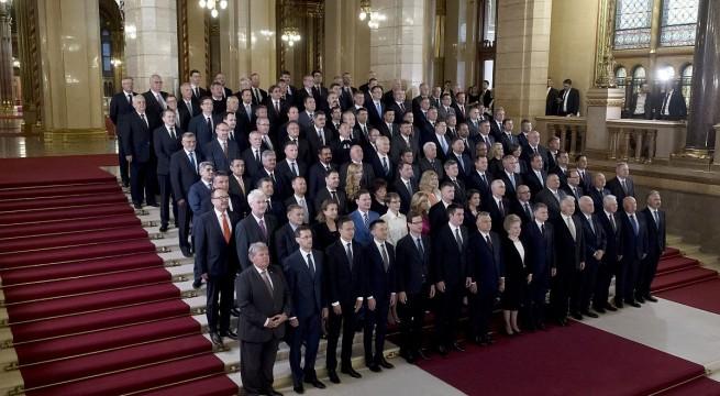 A Fidesz-frakció. Fotó: Koszticsák Szilárd, MTI
