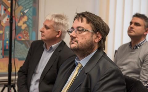 Fischer Zsolt a testület ülésén 2018. november 29-én.