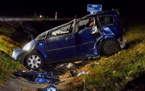 Két ember meghalt az M6-os autópályán, Paks közelében. Fotó: Donka Ferenc, MTI
