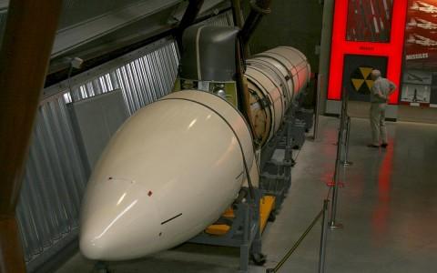 Lockheed Polaris A-3, a hidegháború alatt fejlesztett ballisztikus rakéta.  Fotó: Glen Bowman