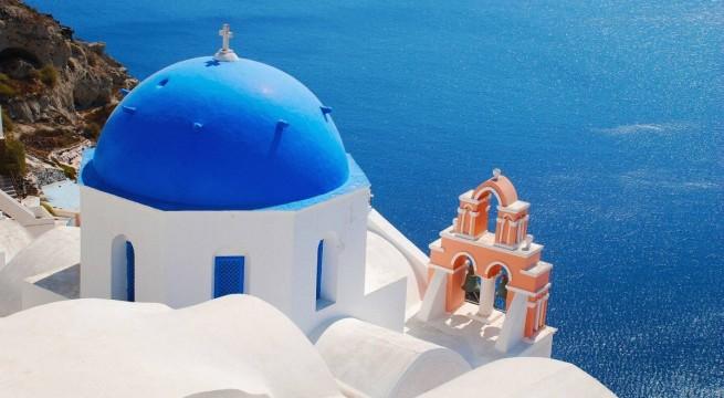 Santorini az Égei-tenger egyik szigete.