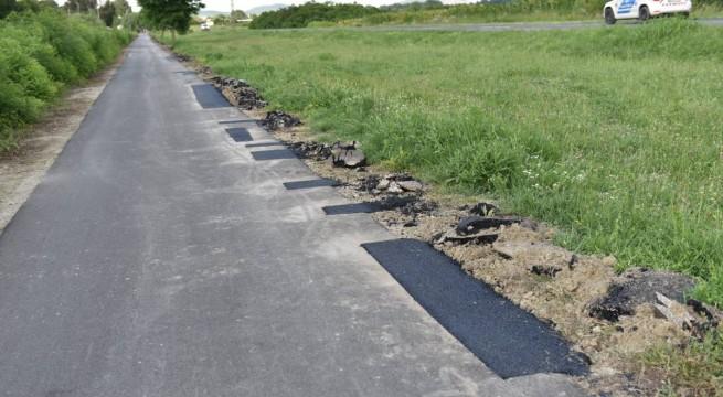 A terület klasszikus, kátyúzás típusú javításon esett át.