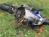 Egykerekezett és egy útszéli táblának csapódott egy motoros Zomba mellett. Rendőrségi felvétel