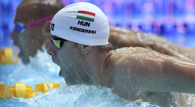 Kenderesi Tamás a 200 méteres pillangóúszás döntőjében a 8. helyen végzett a Kvangdzsuban rendezett világbajnokságon. Fotó: Kovács Tamás, MTI