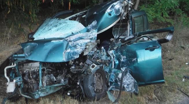 Autóbusszal ütközött egy autó Nyírvasvári és Terem között. Fotó: katasztrófavédelem
