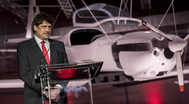 Tarány Gábor, a Magnus Aircraft Zrt. elnöke. Fotó: Sóki Tamás, MTI