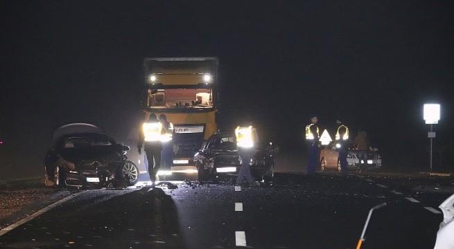 Halálos baleset a 47-es főúton december 2-án. Fotó: Donka Ferenc, MTI