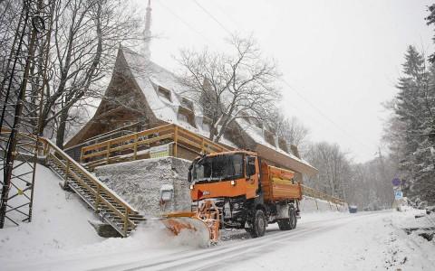 Kékestetőn 19 centis havat mértek szombaton. Fotó: Komka Péter, MTI