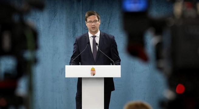 Gulyás Gergely, a Miniszterelnökséget vezető miniszter. Fotó: Soós Lajos