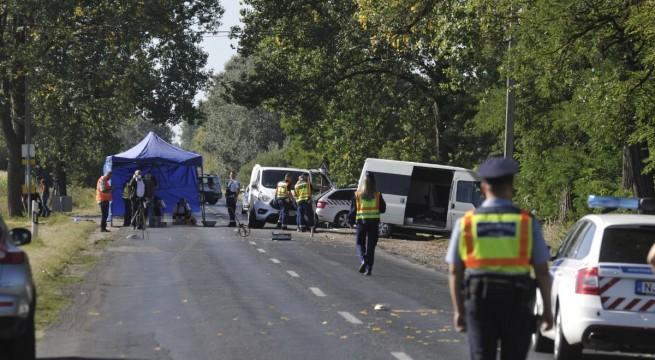 Halálos baleset Nyársapát közelében - fotó: Mihádák Zoltán