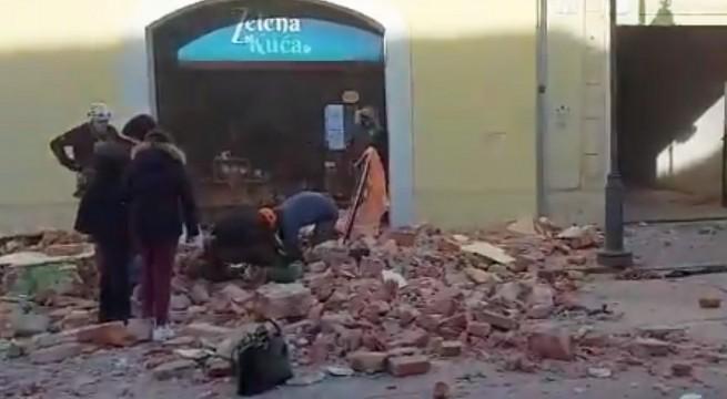 A horvátországi Petrinja településen keletkeztek a legnagyobb károk.