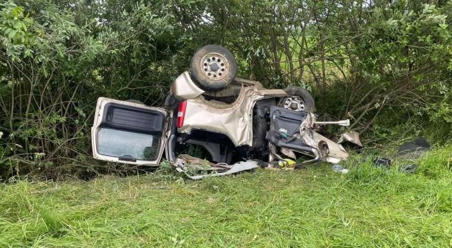 Halálos baleset Szigetvár mellett. Fotó: Bamosz Kft.